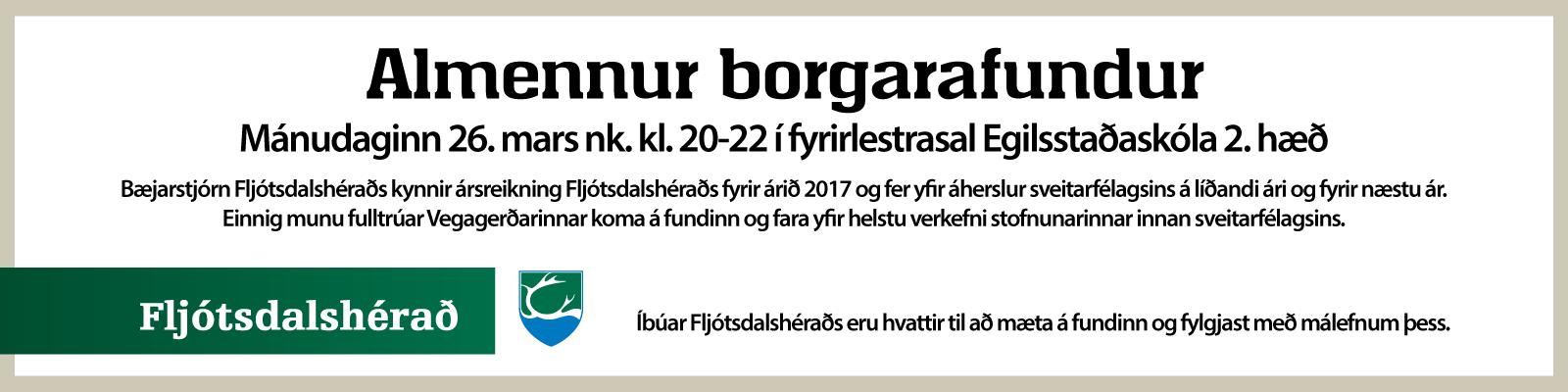 Fljótsdalshérað - Ársreikningskynning 2018