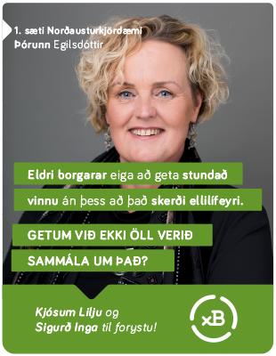 Framsókn 2017 - Þórunn - Eldri borgarar