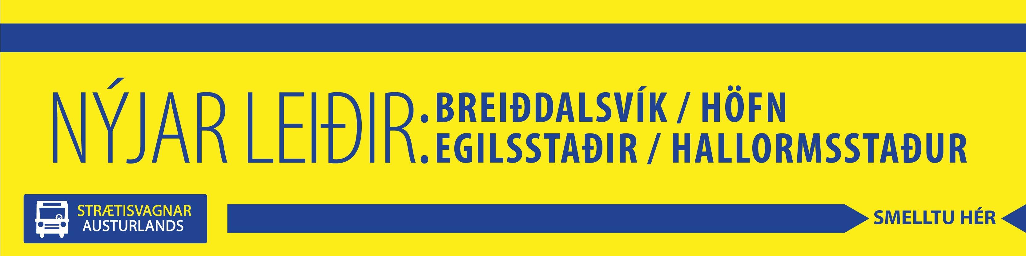Strætisvagnar Austurlands Nýjar leiðir 2016