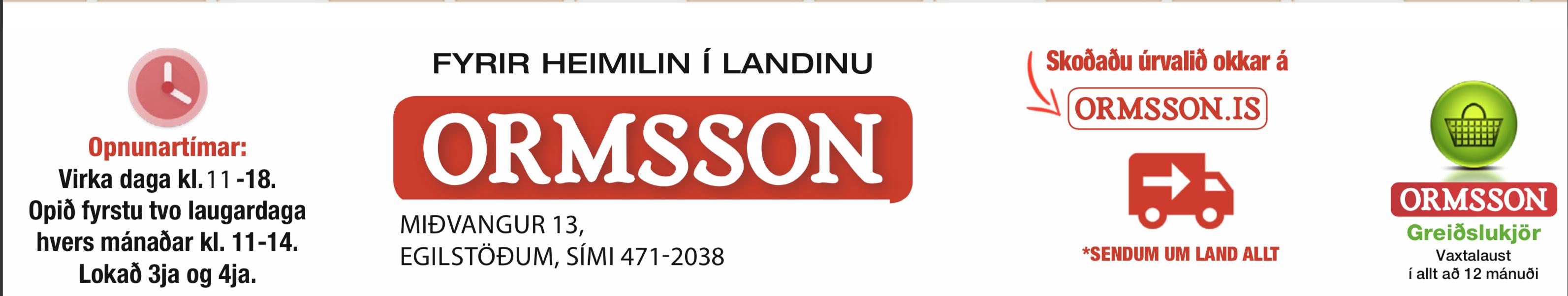 Ormsson ferming 2019
