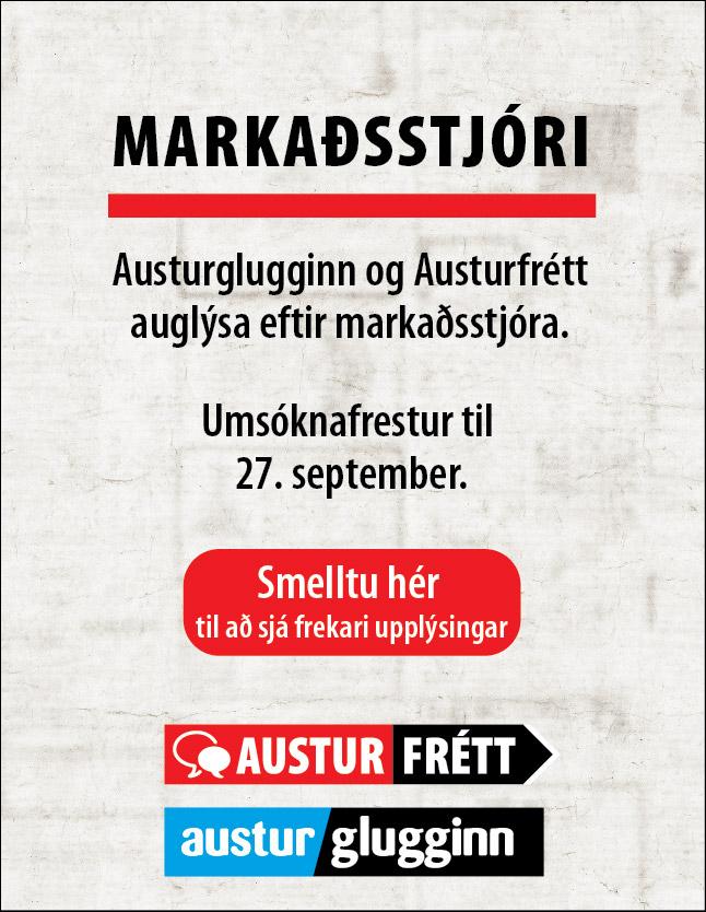 Austurfrétt: Markaðsstjóri