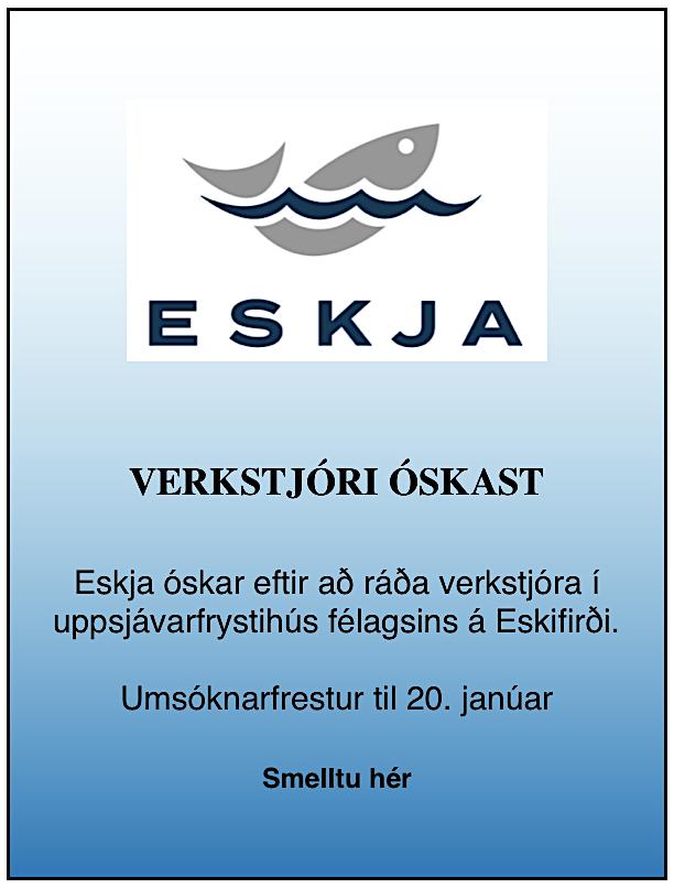 Eskja Verkstjóri óskast 2019