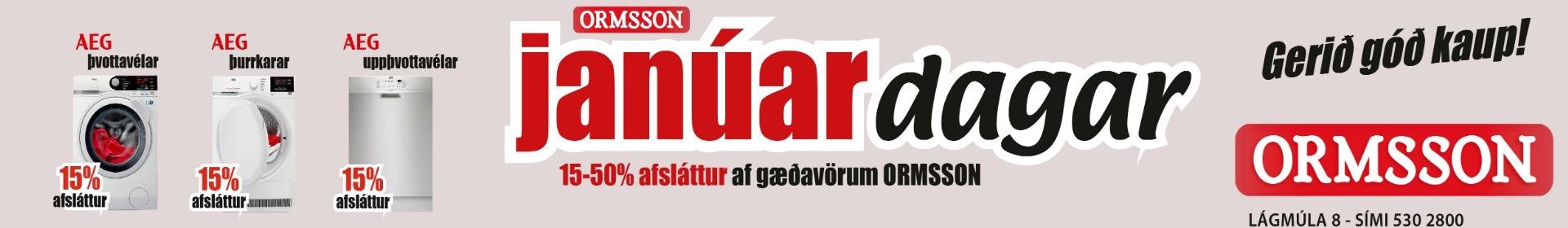 Ormsson janúardagar 2019